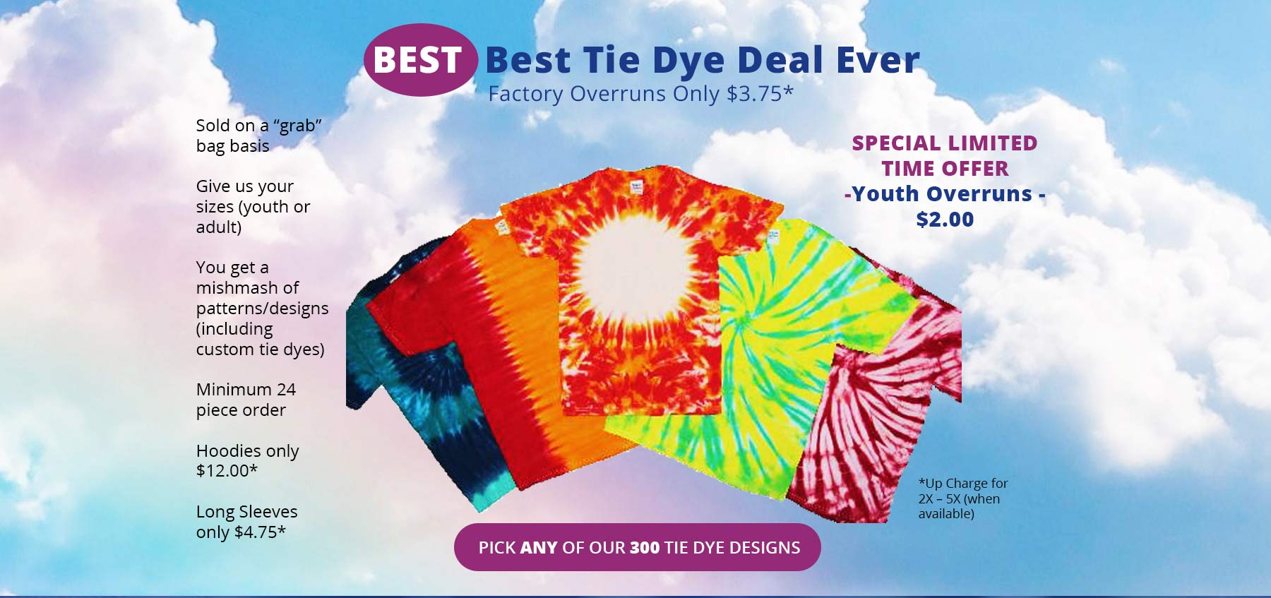 Kerrs Cotton - Best Tie Dye Deal Ever